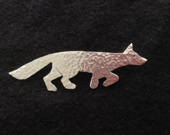 Prancing Fox Brooch