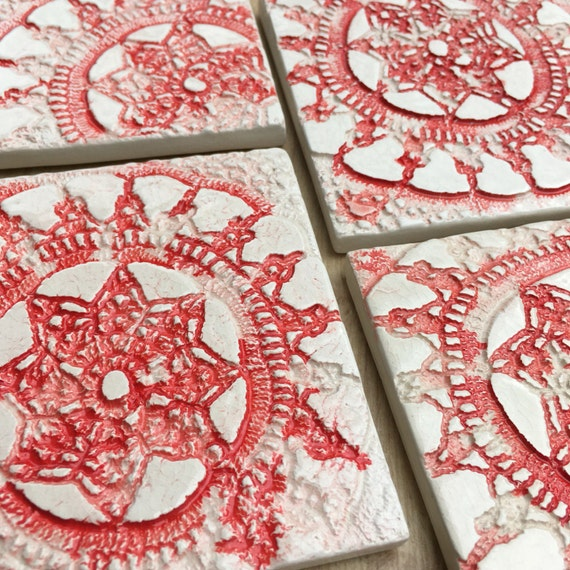 Ceramic textured coaster...