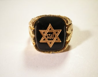 1 Multi-Tone Star of David Adjustable Ring