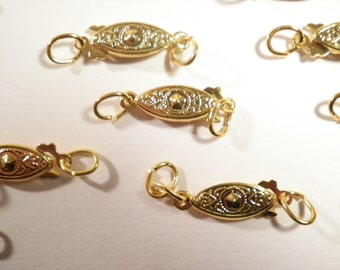 12 Goldplated  2 Part Connectors Clasps