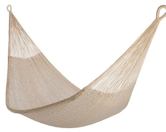 Natural Cotton Rope Hammock: Classic Design