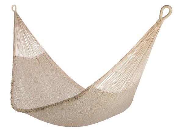 Hamac de corde de coton naturel: Design classique