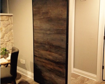 Horizontal  Custom Sliding Barn Door With Metal Trim