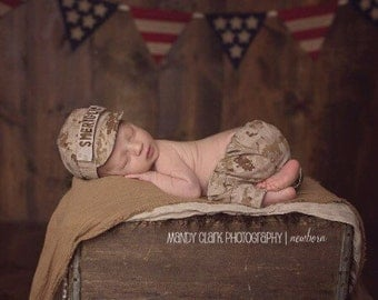 Marine Baby Military SET - Desert or Woodland Camo