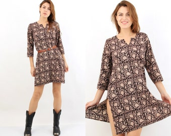 Vintage Fabindia Brown Tunic Dress M