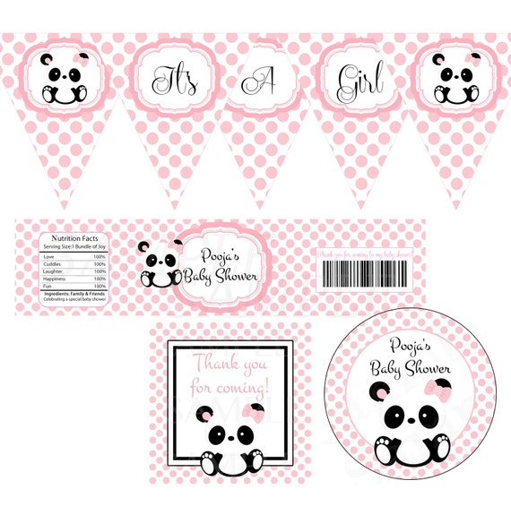 Baby Panda Baby Shower Party Printable Set By The Lovely Memories