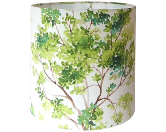 Lamp Shade Lampshade / Trees by Vilber / Green / Watercolor / Made to Order