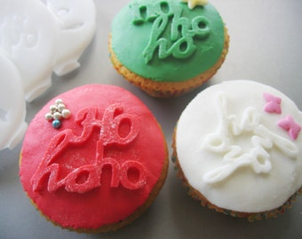 Ho Ho Ho COOKIE or FONDANT STAMP recipe and instructions - make your own decorative cookies