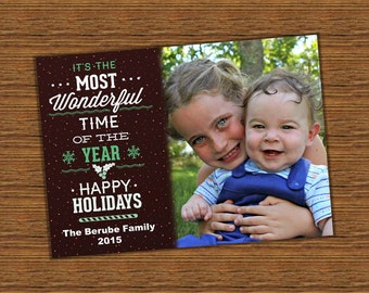 FREE SHIPPING - Photo Christmas Cards, Holiday Photo Card, Photo Holiday Card, Christmas Card, Holiday Card, Photo Christmas Card
