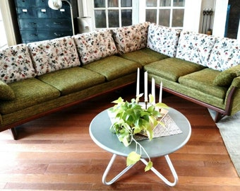 HOLD Sofa Couch Sectional Mid Century Danish Modern Vintage