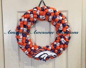 Broncos Polka Dot Wreath