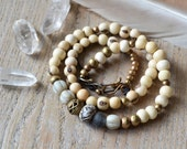 Om mani padme hum yoga necklace - spiritual yoga ethnic jewelry - wrap bracelet