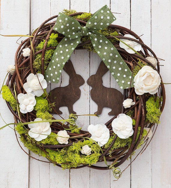 Items Similar To Easter Wreaths For Front Door Spring