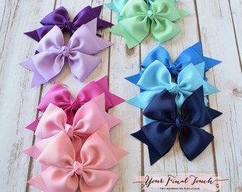 Big Hair Bows, 6 inch Hair Bows, Girls Hair Bows, Large Hair Bows, 6 inch Bows