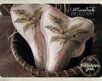 MANDRAKE POPPET Handmade Rustic Plushy, Protection, Wards Against Negative Energy and Spirits