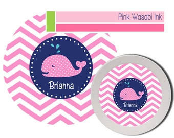 Whale Plate, Personalized Plate and Bowl Set, Kids Melamine Dishes, Dinnerware Set for Girls