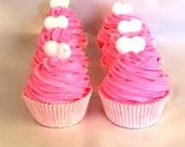 SALE - Six Birthday Cake Scented Cupcake Bathbombs