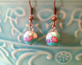 Springtime Flower Earrings~Light Blue, Pink, Red and Purple