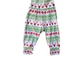 Christmas Cotton Red Green and White Baby Toddler Harem Pants