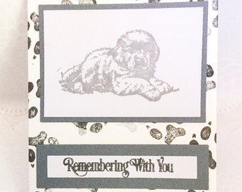 Dog Sympathy card - Loss of pet card - Loss of dog card - Labrador - puppy - pet condolences - Pet Sympathy card - tamped - Wcards