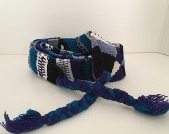 Hand Crafted Woven Blue Belt L-XL
