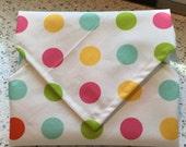 Sandwich Wrap Reusable Green Eco Friendly Children Snack Dots Designer Print Bags Pouches Snack Bags Lunch Place Mat School Supplies