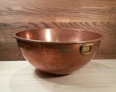 Large Round Douro B&M Copper Mixing Bowl
