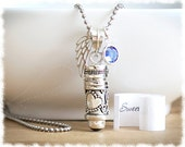 Cremation Jewelry • Miscarriage Necklace • Memorial Jewelry • Prayer Box Urn Necklace • Remembrance