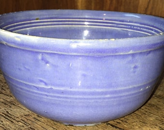 Blue Sevilla Pottery Mixing Bowl Country Kitchen Stacking Bowl Gorgeous Periwinkle Blue
