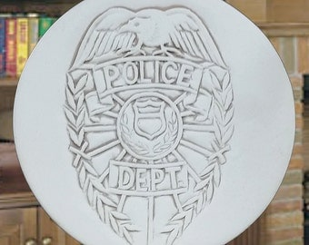 Police Drink Coasters, Police Department, Absorbent Coasters, Lodge, Cabin, Law Inforcement, Home Decor