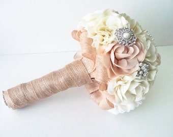 Bridal Fabric Bouquet /  Brooch Bouquet / The Southern Girl Bridal Bouquet