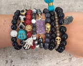 SALE Hematite druzy beaded bracelet; Purple Druzy Bracleet; Drusy: Druzy