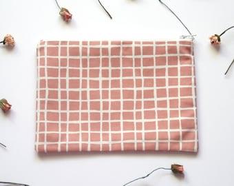 Pink make up bag, scandinavian pencil case, pink purse, little purse, pink pouch , cosmetic bag - Pink Life