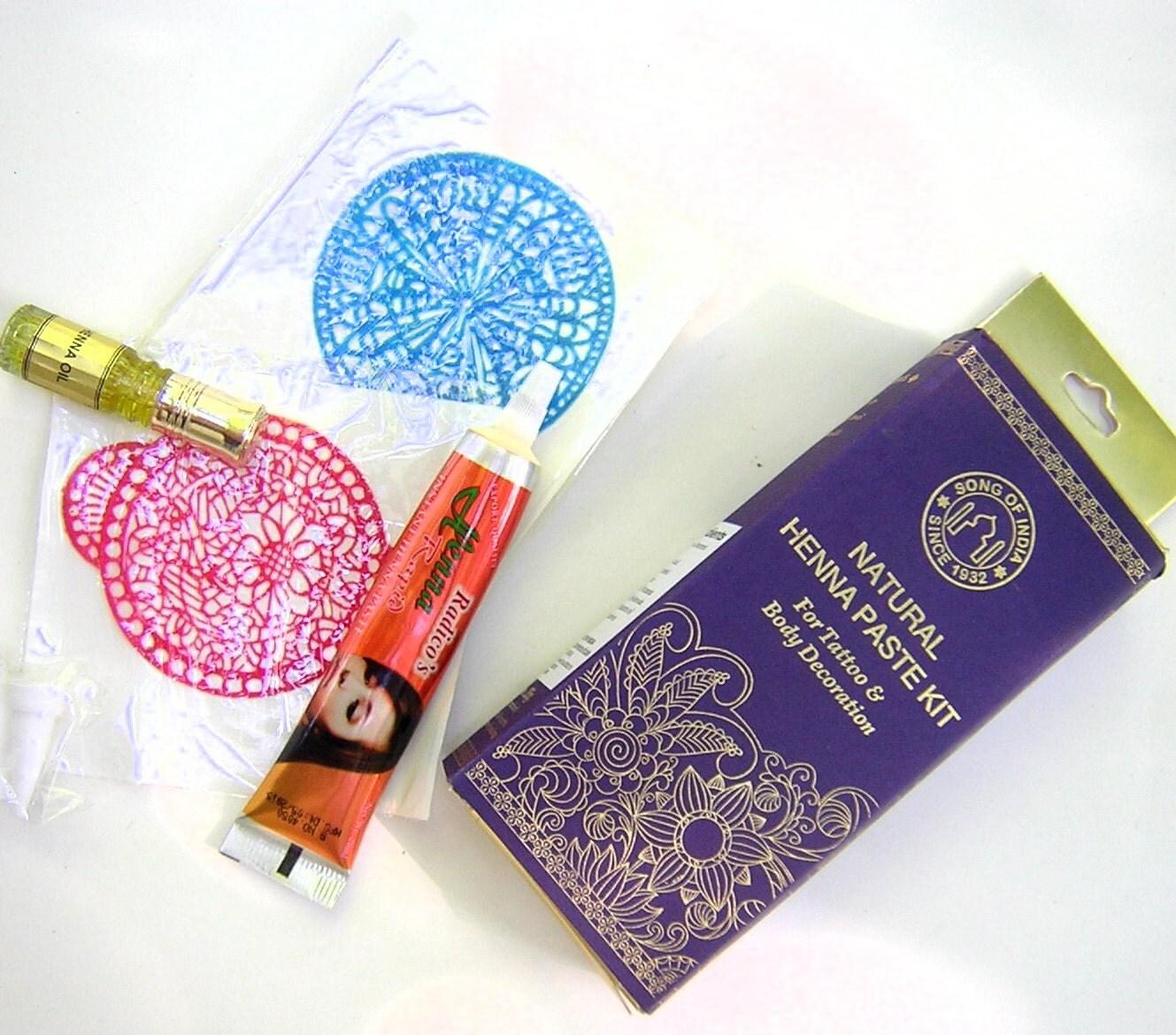 Henna Ink Kit: Henna Kit Natural Henna Paste Tattoos