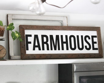 Farmhouse Reclaimed Barn Wood Sign, Housewarming Gift, Country Decor, Farmhouse Decor