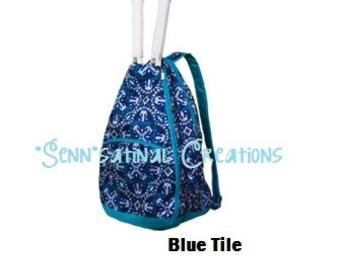 Monogrammed Tennis Backpack, Tennis Bag, Personalized Tennis Bag,  Tennis