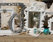 Picture Frames -  Vintage Style Picture Frames - Shabby Chic Frame Set - Set Of  Upcycled Frames