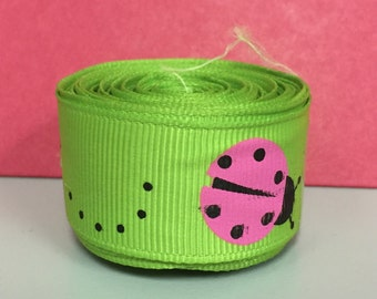 "7/8"" Lady Bug Ribbon - 5 yards"