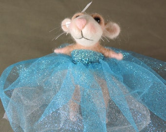 """Needle felted mouse, 5.5"""" tall, Princess art doll"""