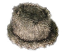 GreyFaux Fur Fluffy Fedora Hat Monster Festival Rave Furry Clothing Apparel Christmas Halloween pimp outfit hat new years eve dance party
