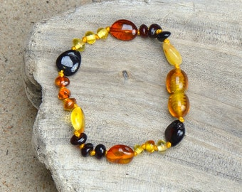 Amber Teething Bracelet - Sale !!! - Authentic Baltic Amber for your Baby