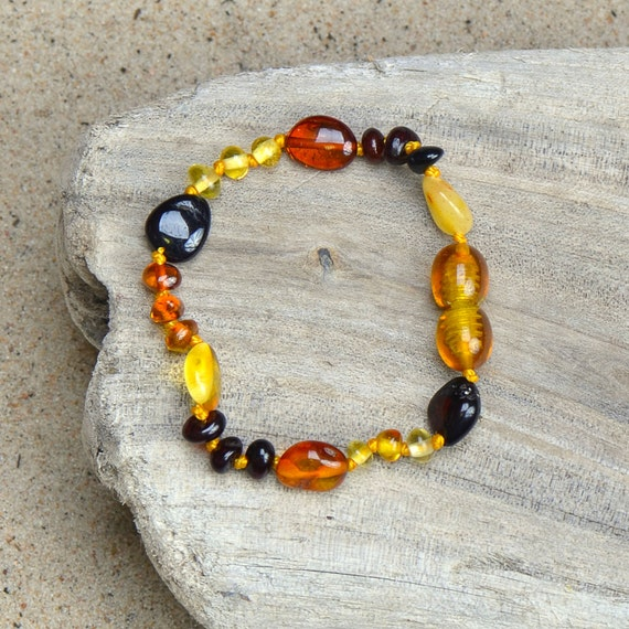Amber Teething Bracelet - Sale !!! - Authentic Baltic Amber for your Baby -