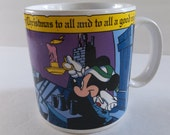 Vintage Disney Christmas mug, applause, Mickey night before Christmas, vintage disney,
