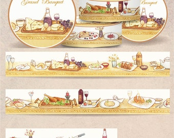 1 Roll of Limited Edition Washi Tape: Grand Banquet
