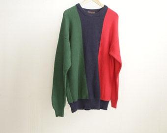 huge 1990s nirvana STRIPED slouchy sweater