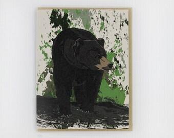 Black Bear blank card