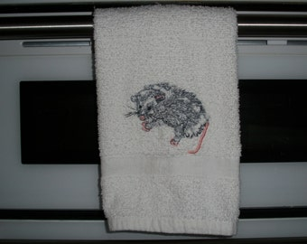 Baby Possum hand towel