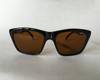 NEW Vintage 1980's Bolle Acrylex 527 black sunglasses with amber tinted lenses Super rare! Vintage Womens Sunglasses Mens Sunglasses