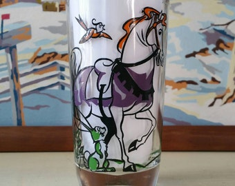 Vintage 1958 Walt Disney Sleeping Beauty Samson the Horse Peanut Butter Glass / Big Top Peanut Butter / Drinking Glass / Disneyana