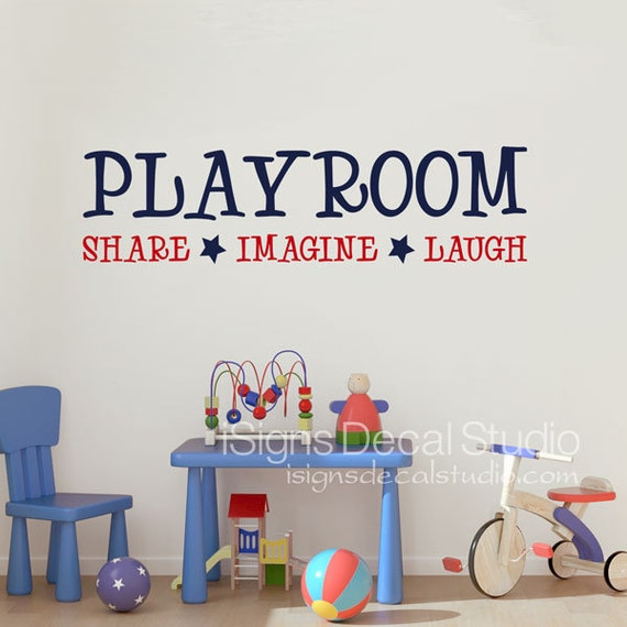 playroom wall decal playroom share imagine laugh wall decal. Black Bedroom Furniture Sets. Home Design Ideas